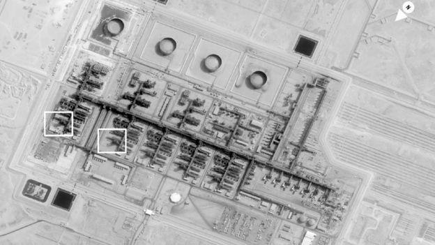 تصاویر ماهوارهای آمریکا بعد از حمله به تاسیسات بقیق