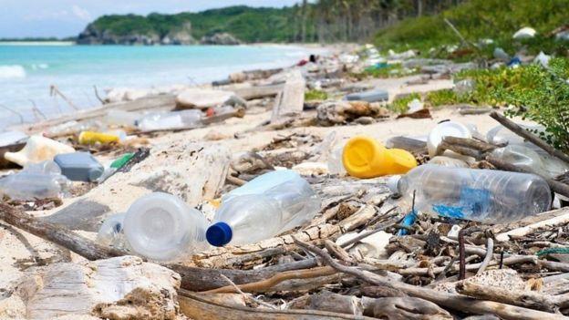 海滩上的塑料垃圾
