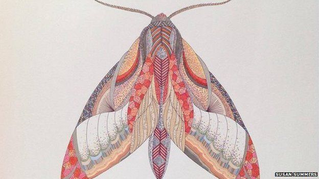 Susan Summers Completed Picture Of A Butterfly