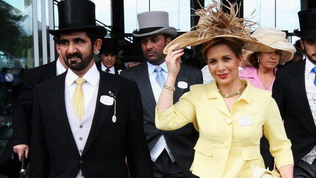 الأميرة هيا ومحمد بن راشد