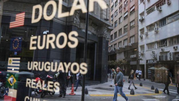 Oficina de cambio en Buenos Aires