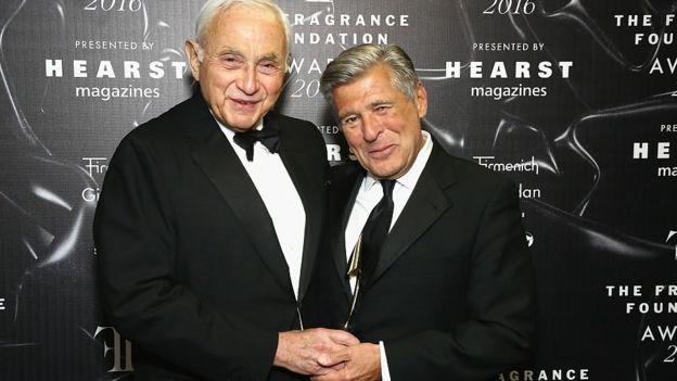 L Brands billionaire founder Les Wexner (L) and Victoria's Secret's former chief marketing officer, Ed Razek (R)