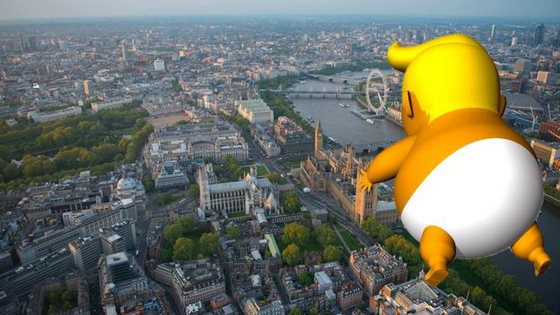 Trump Baby over London