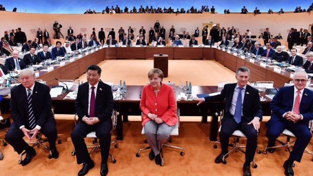 Trump, Xi, Merkel, Macri