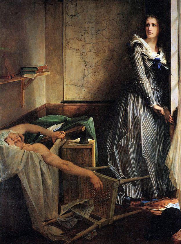 """""""Charlotte Corday"""" pintada en 1860 por Paul Baudry"""