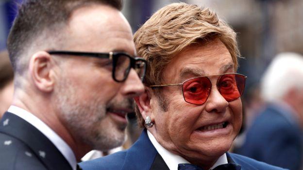 David Furnish e Sir Elton John