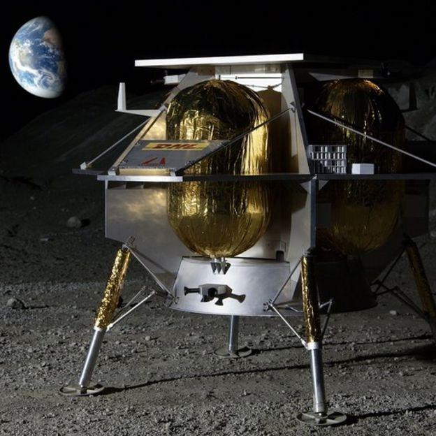 Ilustração de um aterrisador da Astrobotic