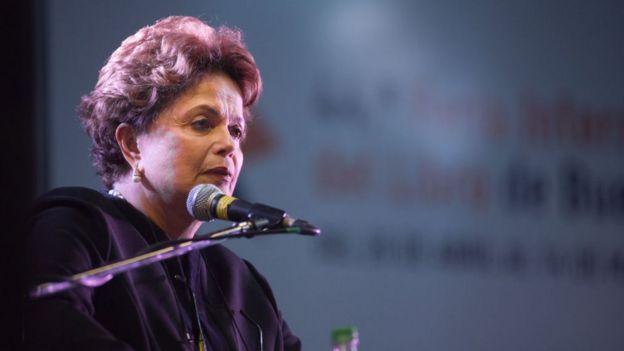 La expresidenta de Brasil, Dilma Rousseff