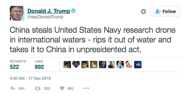 """Donald Trump's December tweet was deleted and re-posted with the correct spelling of """"unpresidented"""""""