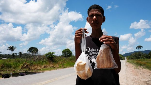 Venezuela'nın Araujo vilayetinden Brezilya'nın Boa Vista şehrine göç eden bir Venezuelalı.