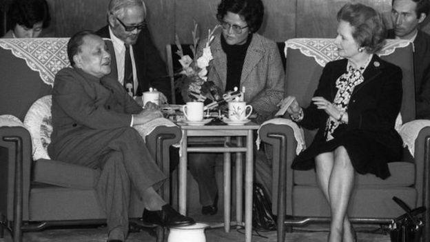 1984年中英兩國就香港前途問題達成共識。(資料圖片)