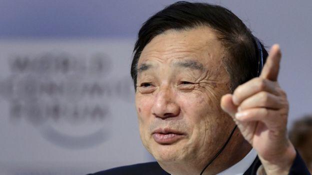 Ren Zhengfei speaking at the World Economic Forum