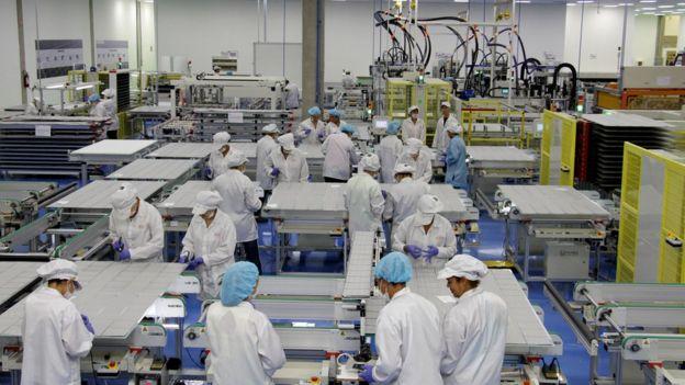 Fábrica da empresa chinesa BYD