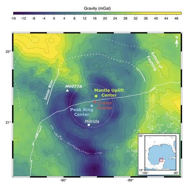 Una gráfica del cráter
