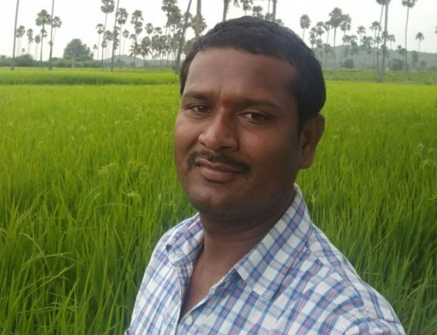 Yerram Anjireddy, a farmer
