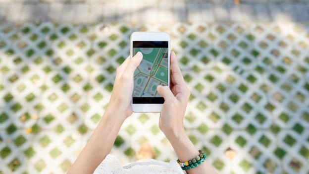 usar mapa en el celular