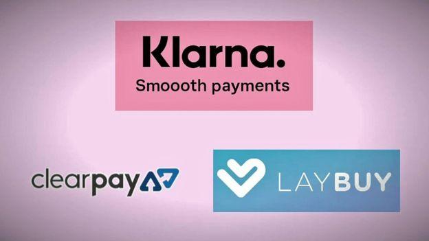 Klarna, ClearPay and Lay buy logos