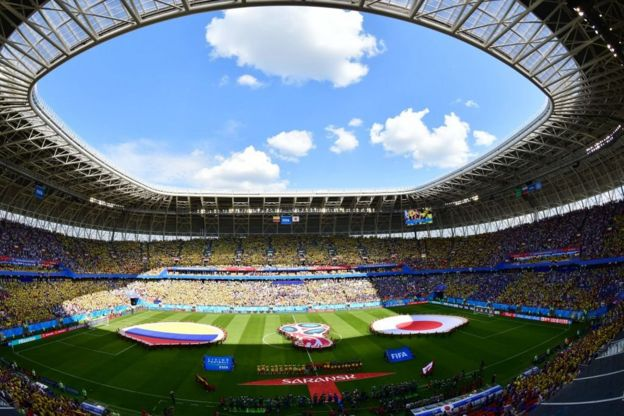 Panorámica del estadio Mordovia Arena.