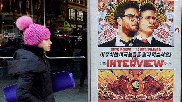 Poster for Sony Pictures film, The Interview