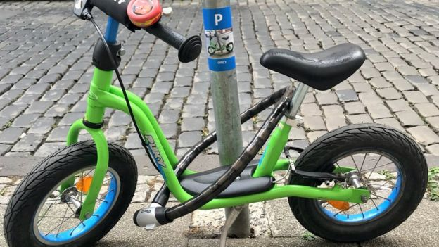 Dietz'in oğlunun bisikleti