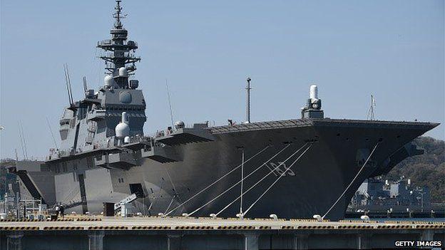 Japan Maritime Self Defense Forces' latest helicopter destroyer Izumo