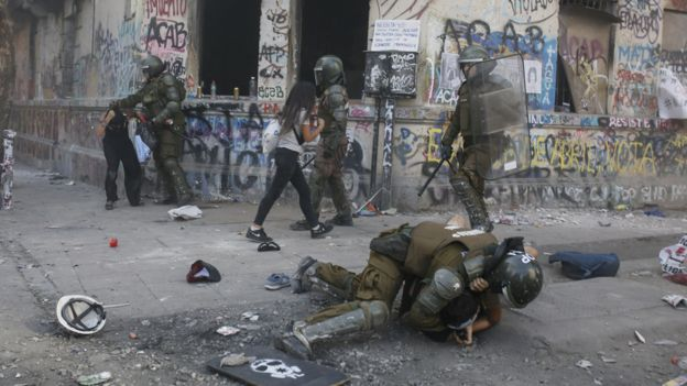 Подавление протестов в Чили