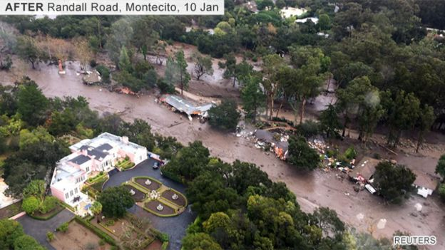 Image of Montecito after the mudslides
