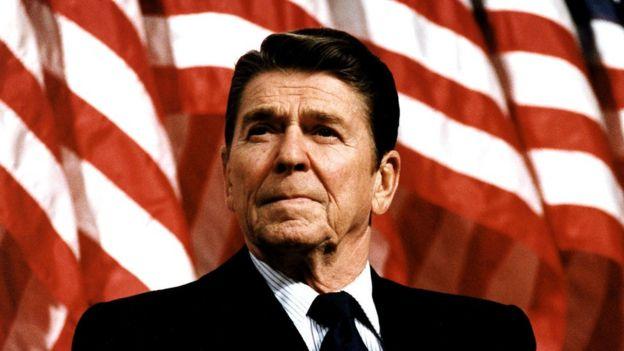 El presidente estadounidense Ronald Reagan