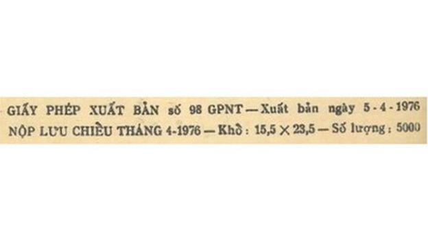 Thông tin in của tập nhạc Hát Từ Sài Gòn Giải Phóng