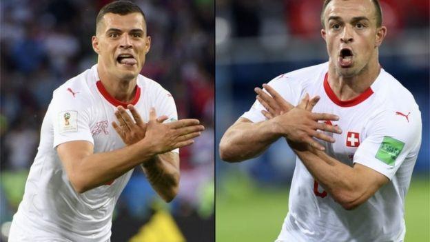 فیفا درباره حرکت 'عقاب دو سر' بازیکنان سوئیس تحقیق میکند