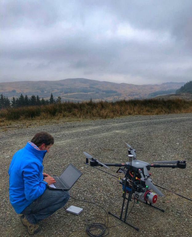 Laser drones protect Scottish forests - BBC News