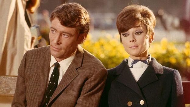 Peter O'Toole y Audrey Hepburn