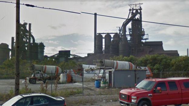 Los altos hornos de US Steel en la isla Zug Foto: Google Street View