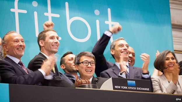 Fitbit staff at the NYSE