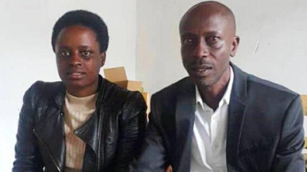 Grace Umutoni y su tío Antoine Rugagi .