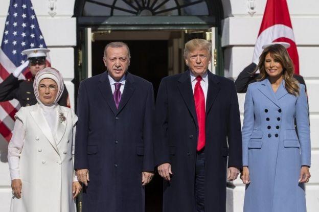 Erdoğan ve Trump çiftleri