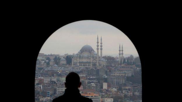 Sultanahmet Cami'nin Galata Kulesi'nden görünümü