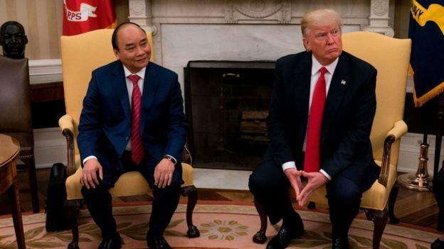Thủ tướng Nguyễn Xuân Phúc hội đàm với Tổng thống Donald Trump tại Washington hôm 31/7/2017