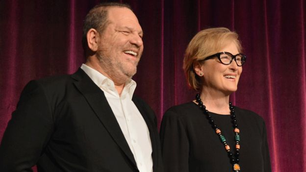 Harvey Weinstein y Meryl Streep.