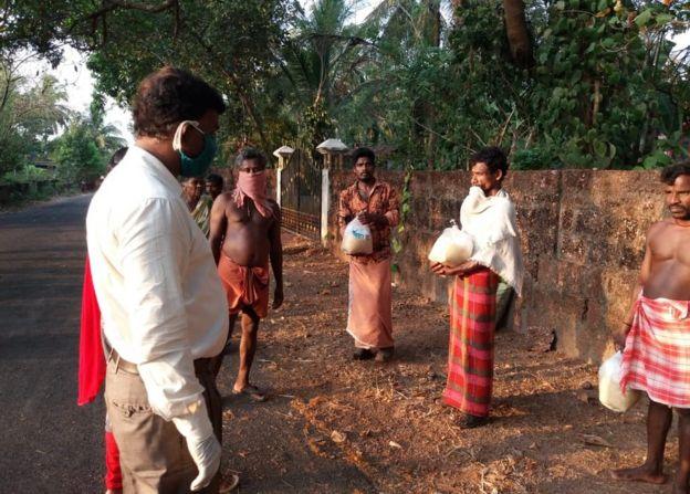 Aldea de Kasargod en Kerala