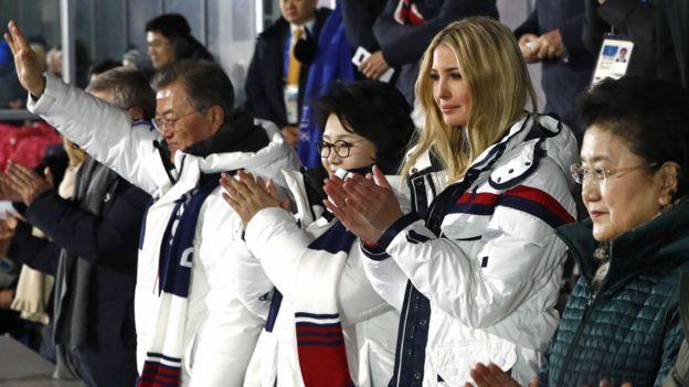平昌冬季五輪でイバンカ氏は外交活動の中心にいた