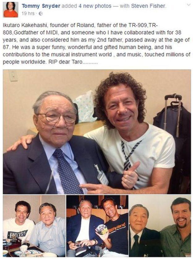 Tommy Snyder, quien trabajó con Kakehashi durante 38 años, compartió un emotivo mensaje de despedida en Facebook.