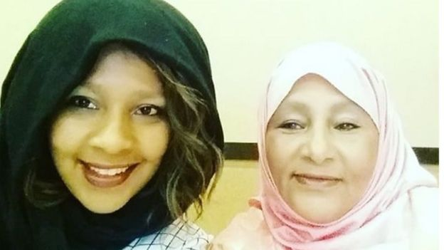 Ubah Mohamed and her mother