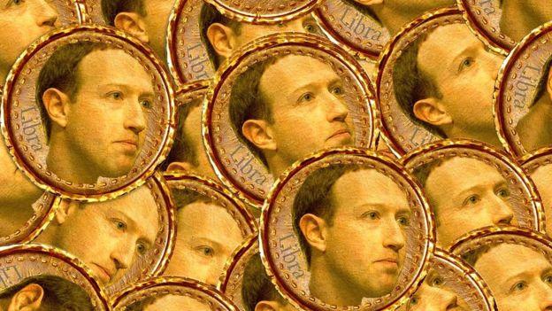 Mark Zuckerberg and Libra coins
