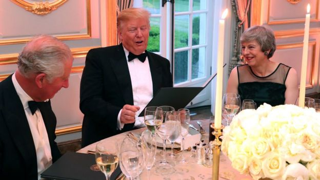 Prince Charles, Donald Trump and Theresa May