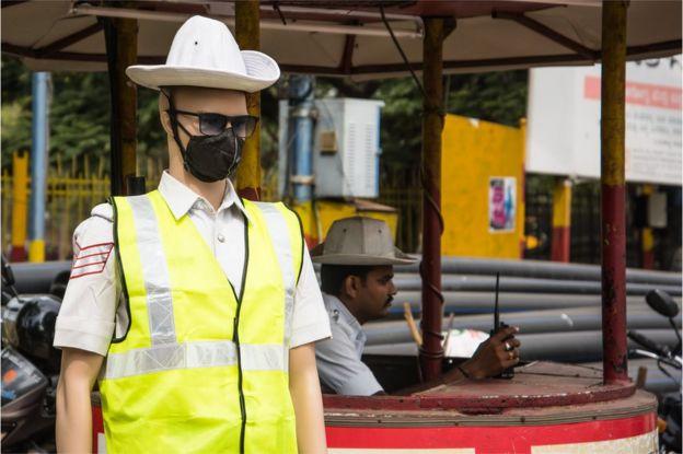 Traffic police mannequin