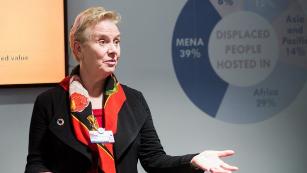 Ann Cairns, pictured at the 2017 annual meeting of the WEF