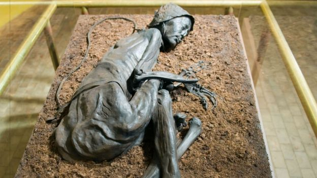 Tollund Man was found just 40m from Elling Woman with a noose still around his neck