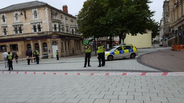 cardiff queen street murder arrest after double stabbing bbc news