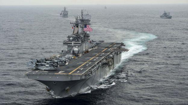 به گفته دونالد ترامپ، این پهپاد به کشتی جنگی یواساس باکسر نزدیک شده و توسط همین کشتی سرنگون شده است